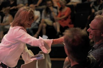 Margot Ribberink in gesprek met publiek
